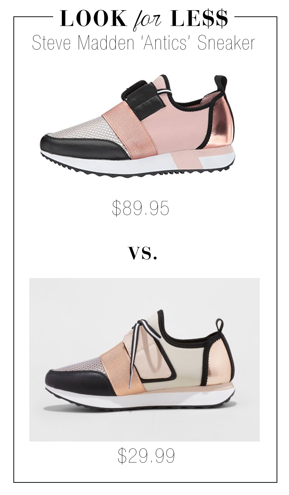 Look for Less: Steve Madden Antics Sneakers