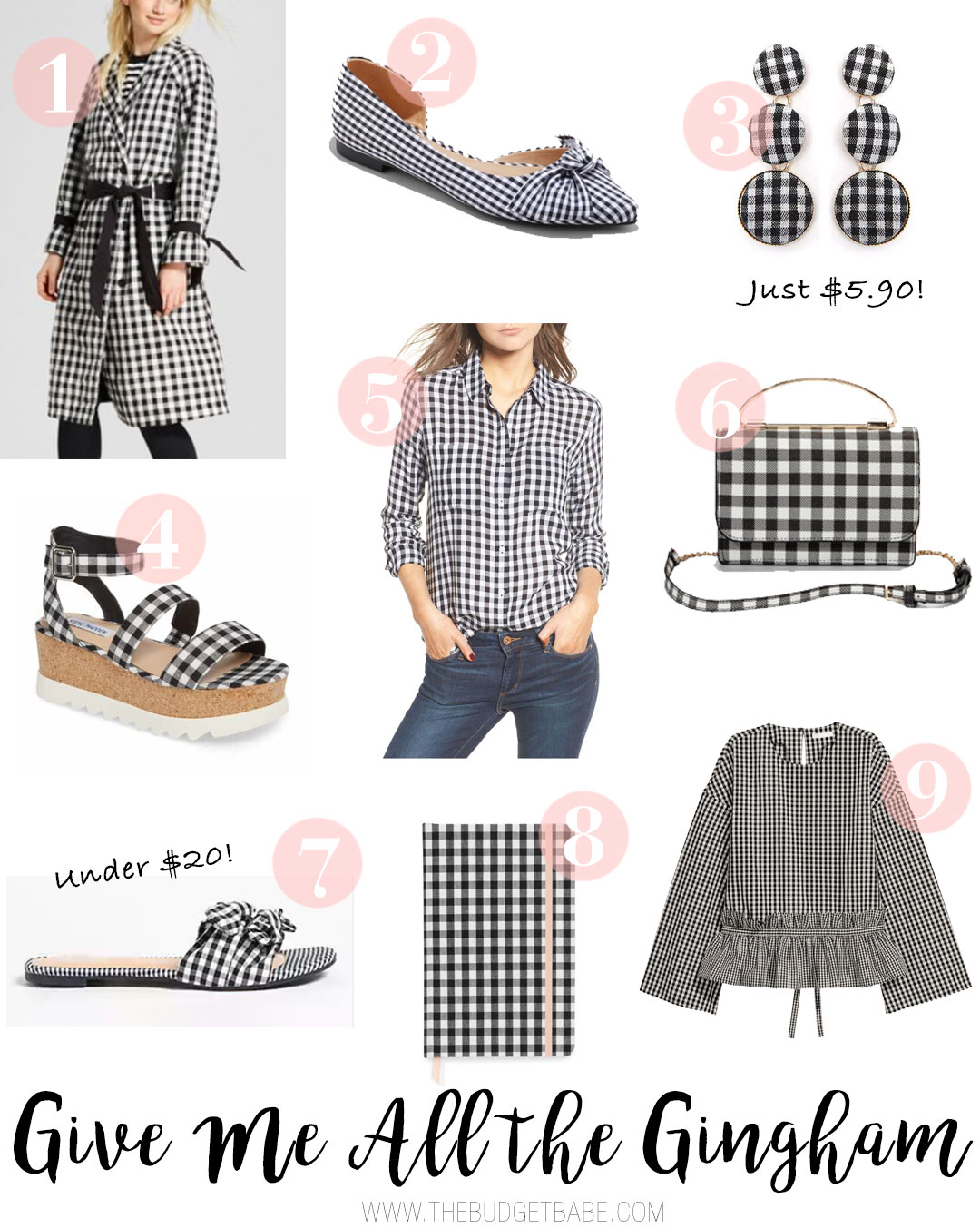 Gingham fashion for spring 2018 from just $5.90