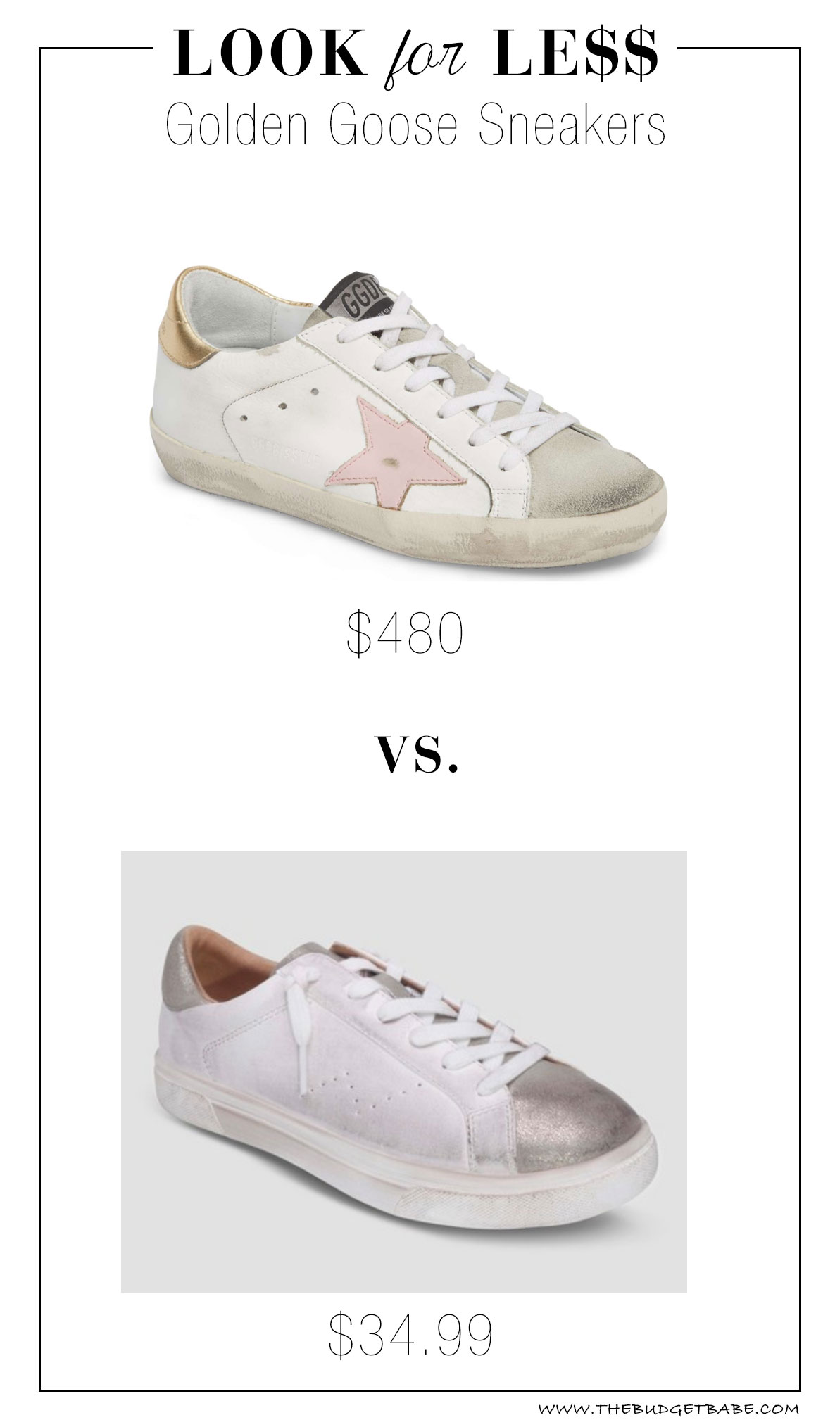 Golden Goose look for less