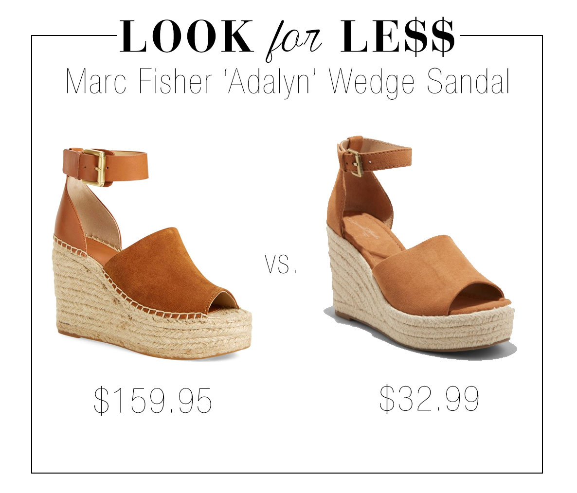 Shop this Marc Fisher wedge espadrille sandal look for less at Target!