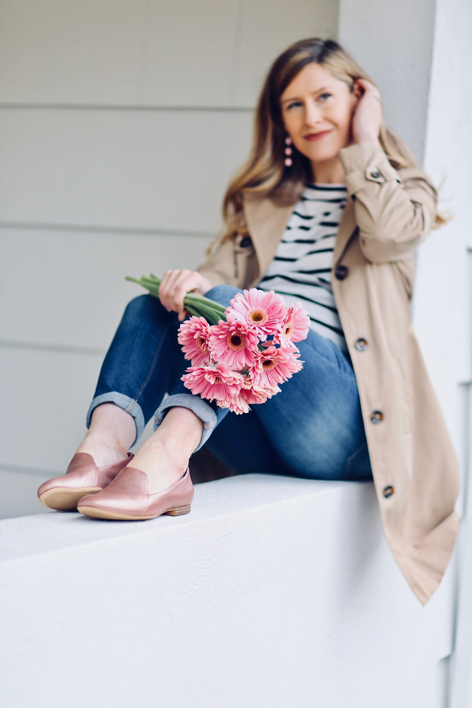 The 'Emiline' by Naturalizer is the perfect blush pink loafer for spring!