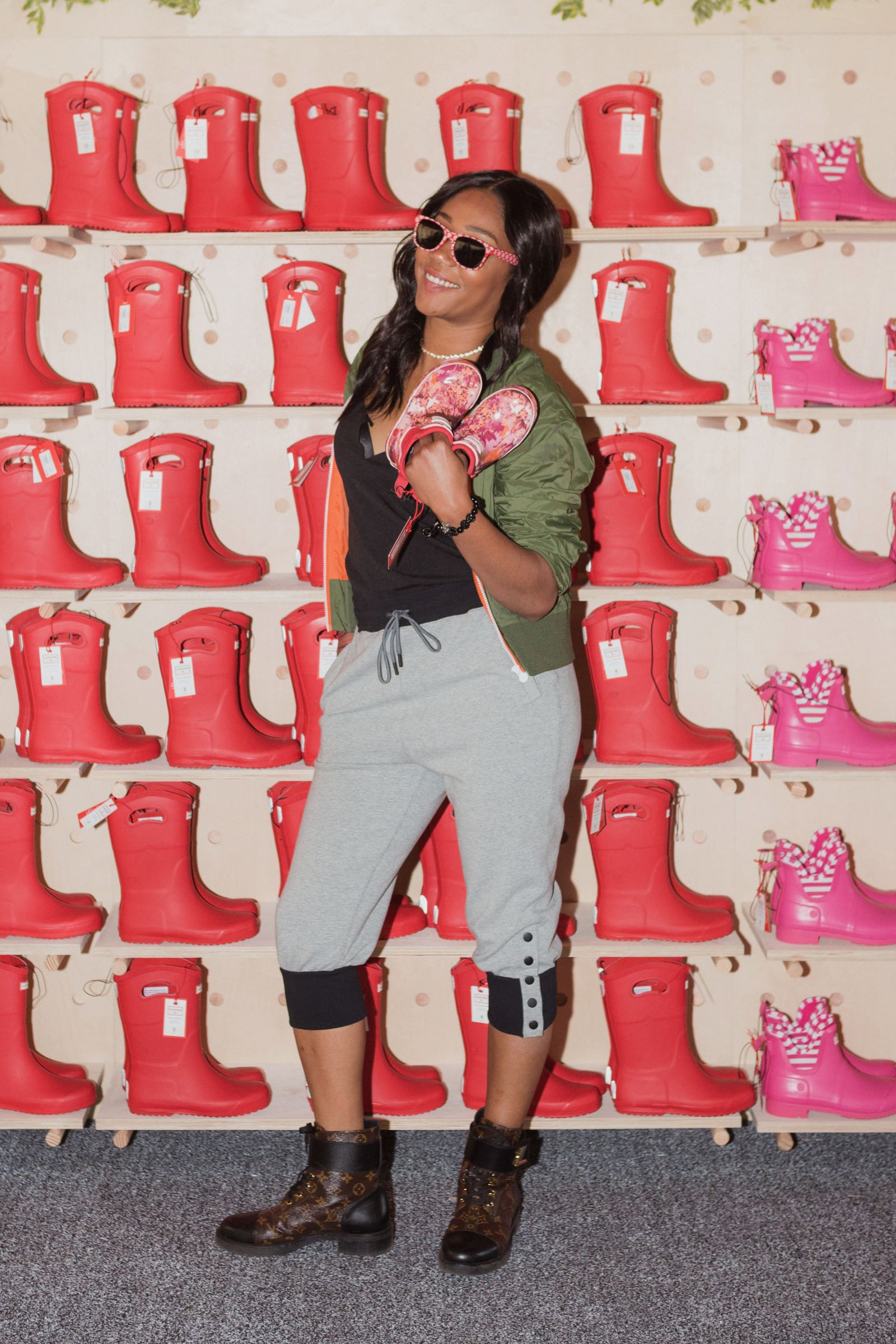 Celebs celebrate the launch of Hunter x Target boots collection.