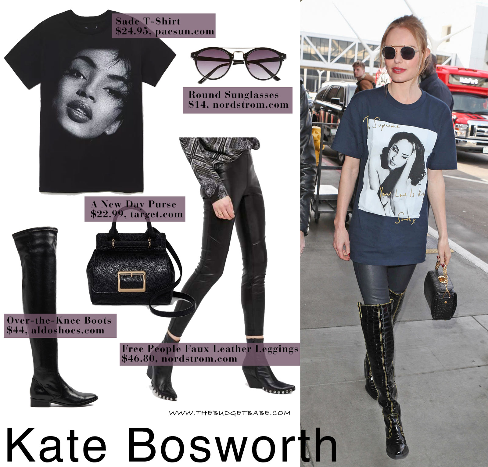 6b4ebedbb58 Kate Bosworth wears a Sade t-shirt by Supreme while making her way through  LAX