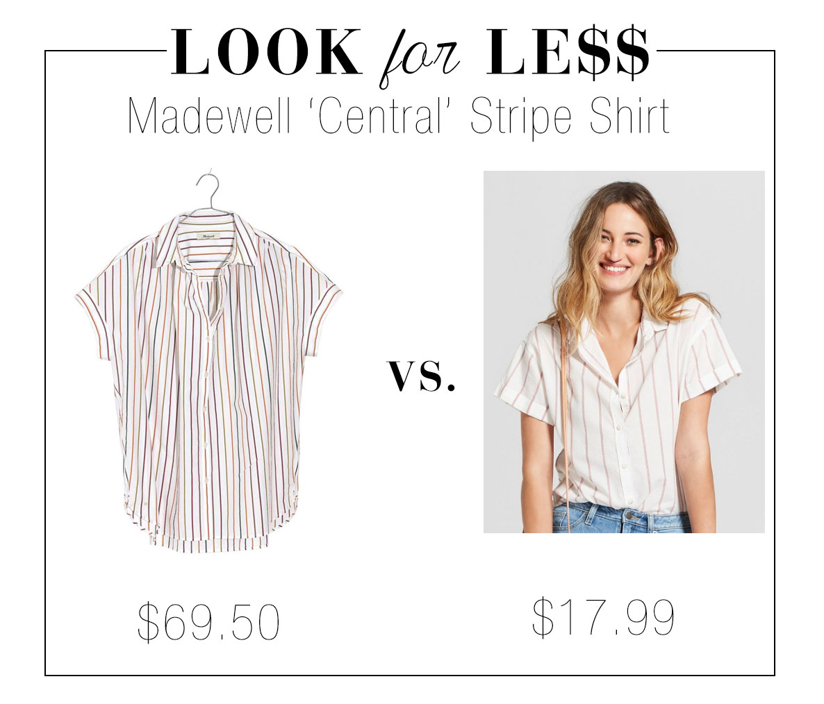 Get the look of Madewell's Central shirt for less at Target