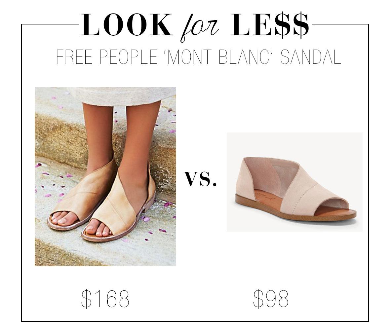 e6aa62570eb Free People  Mont Blanc  Asymmetrical Sandal Flat Open Toe Dupe