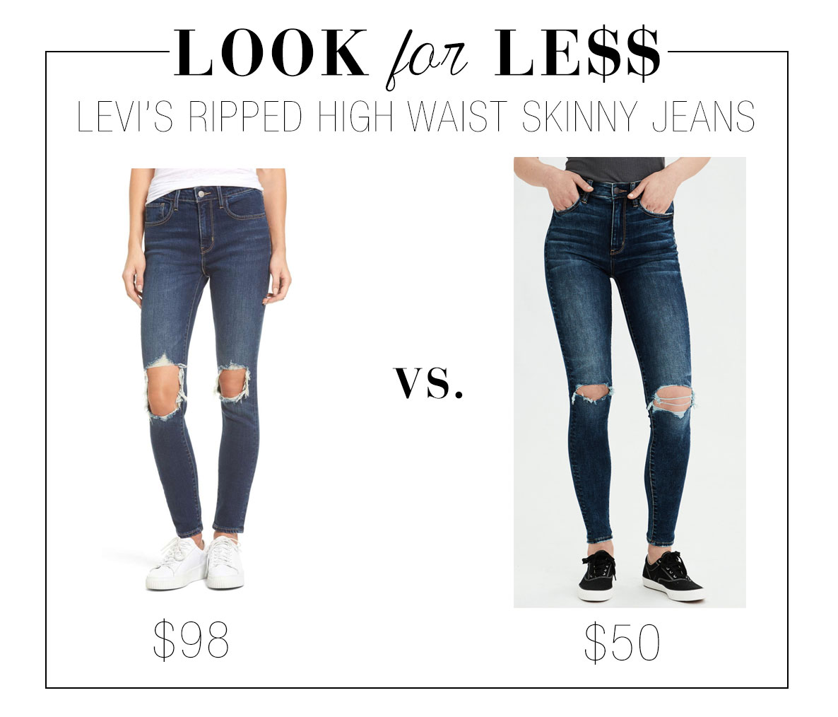 Levi's jeans look for less