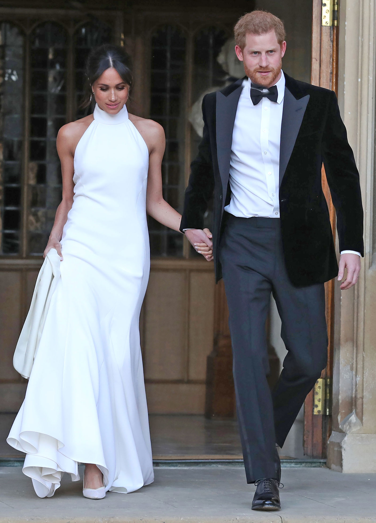 Meghan Markle wedding gown halter look for less