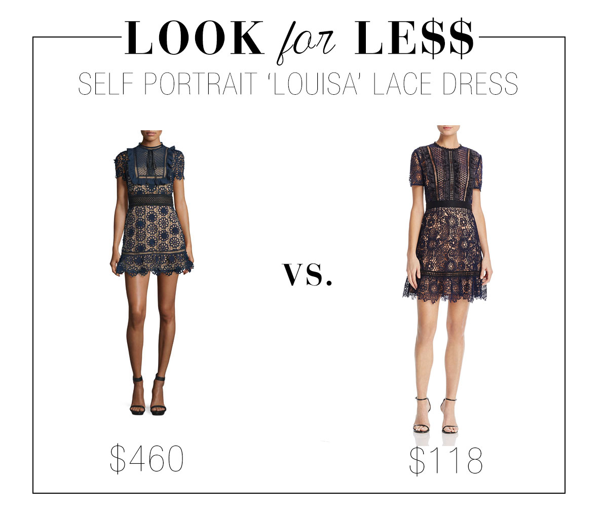 Self Portrait lace dress look for less