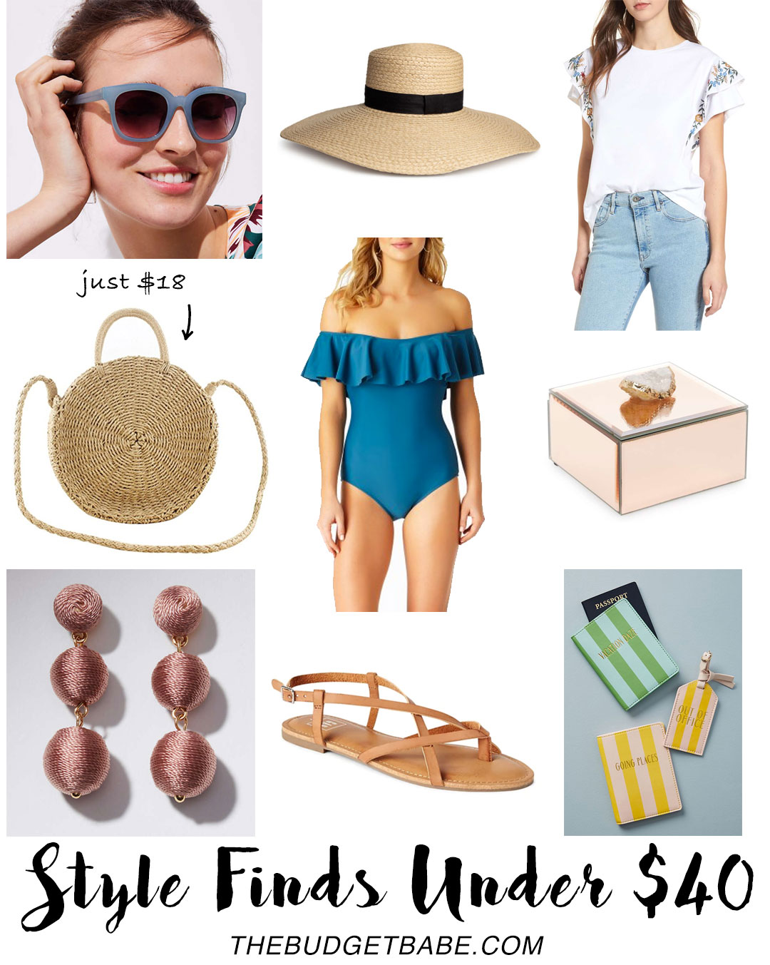 Style Finds Under $40 - love that straw bag