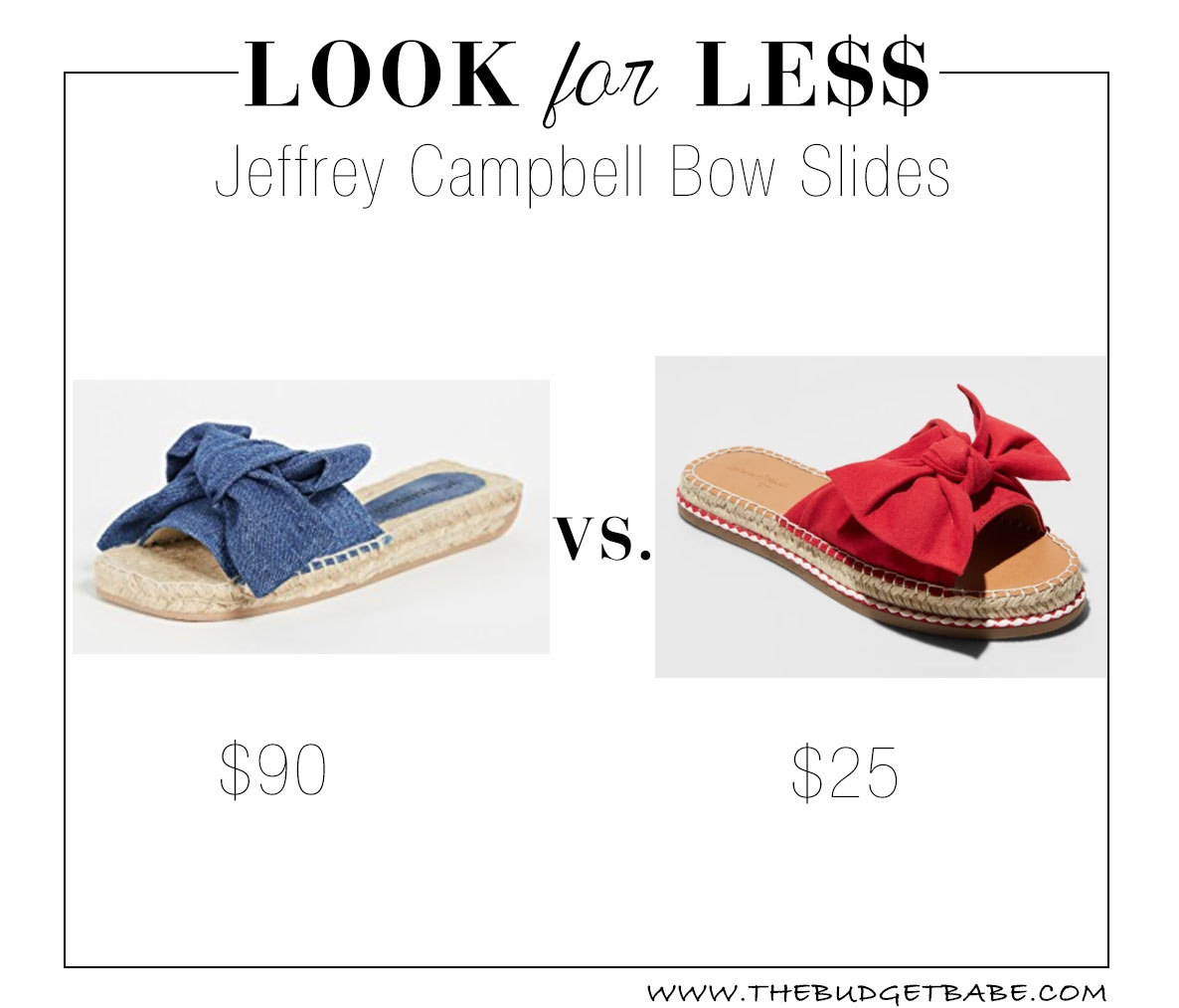 Jeffrey Campbell denim bow slides - love this sandal!