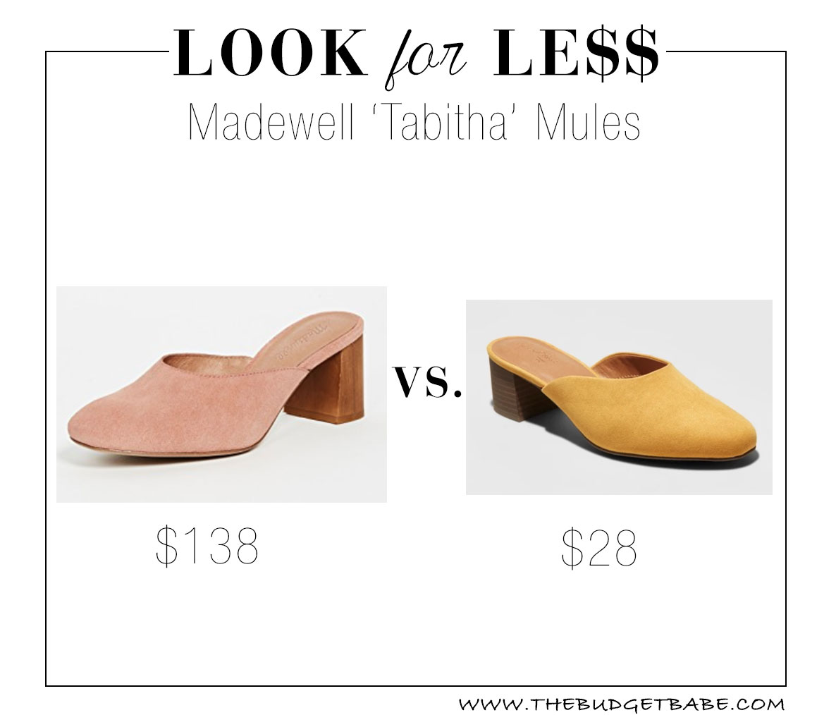 Madewell mules look for less