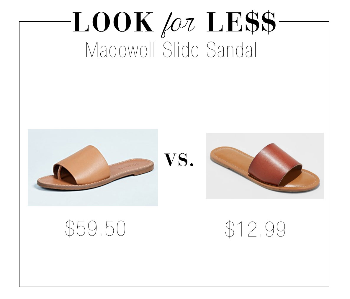 Madewell slide sandal look for less