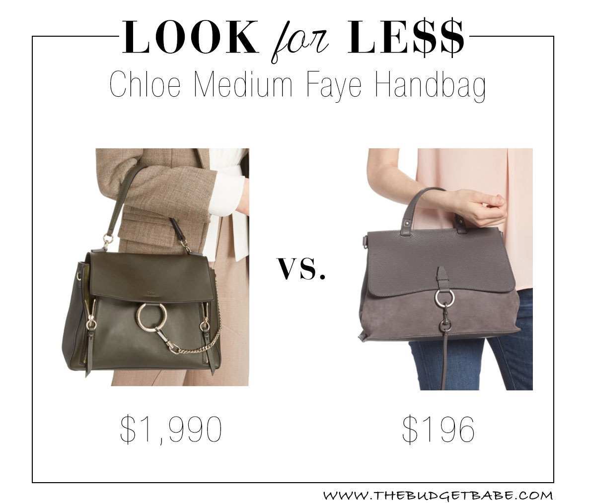 Chloe Faye look for less dupe at Nordstrom - and it's on sale!