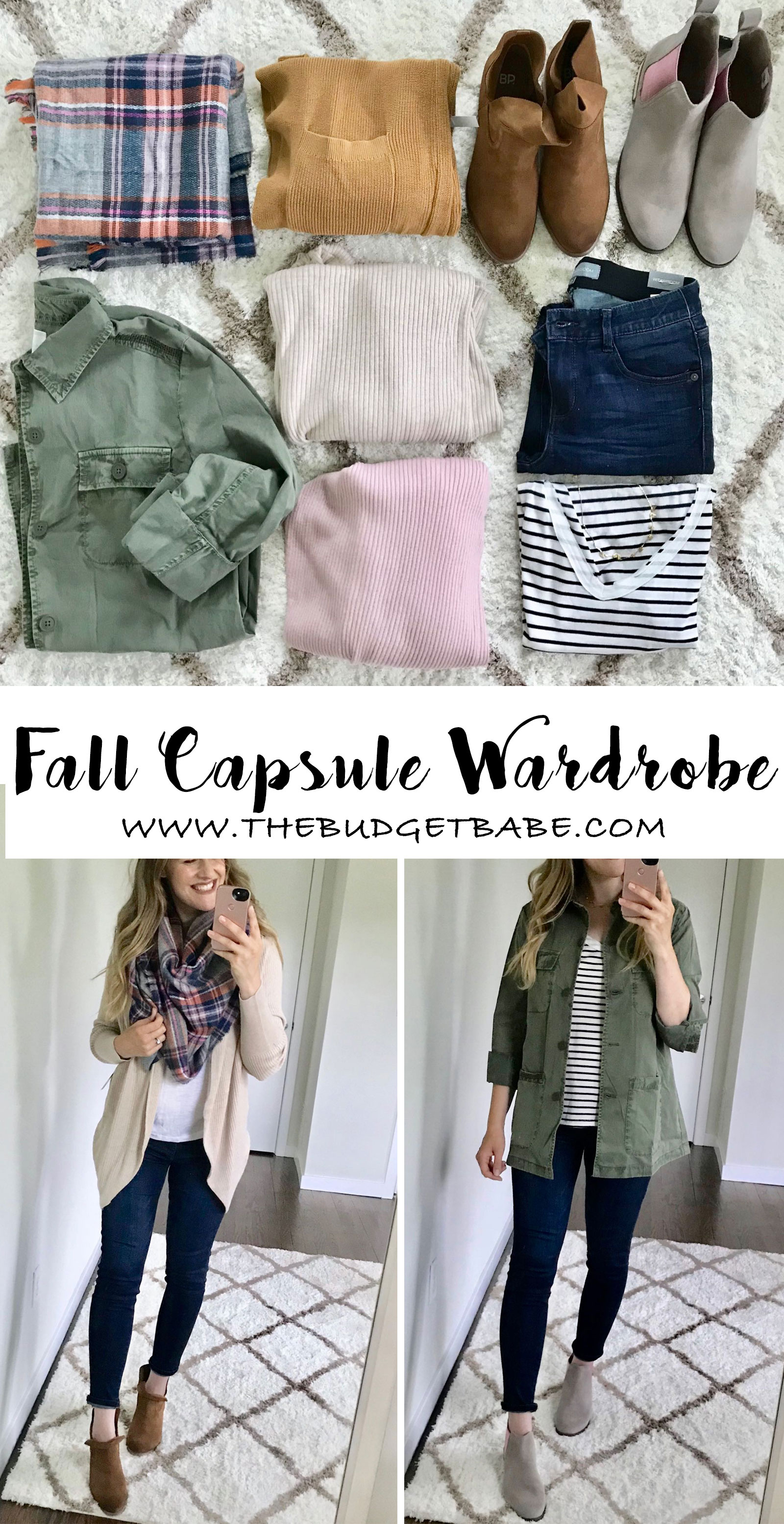 Fall Capsule wardrobe for stay-at-home moms, casual outfit ideas for fall + winter on a budget