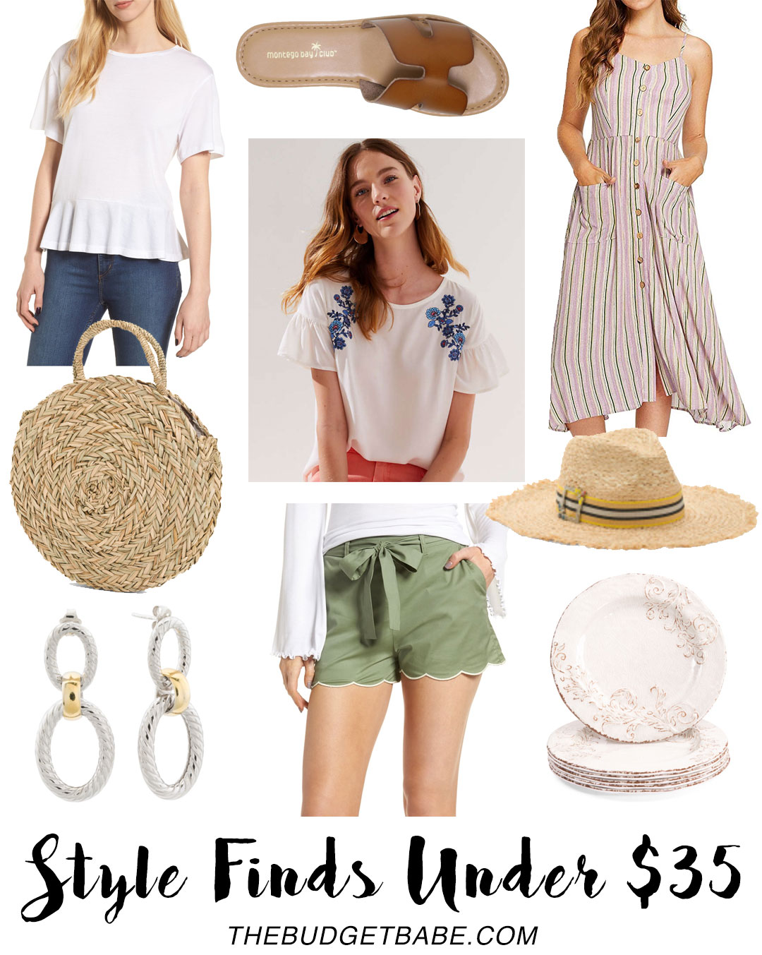 Style finds under $35 on The Budget Babe - need those cute shorts!