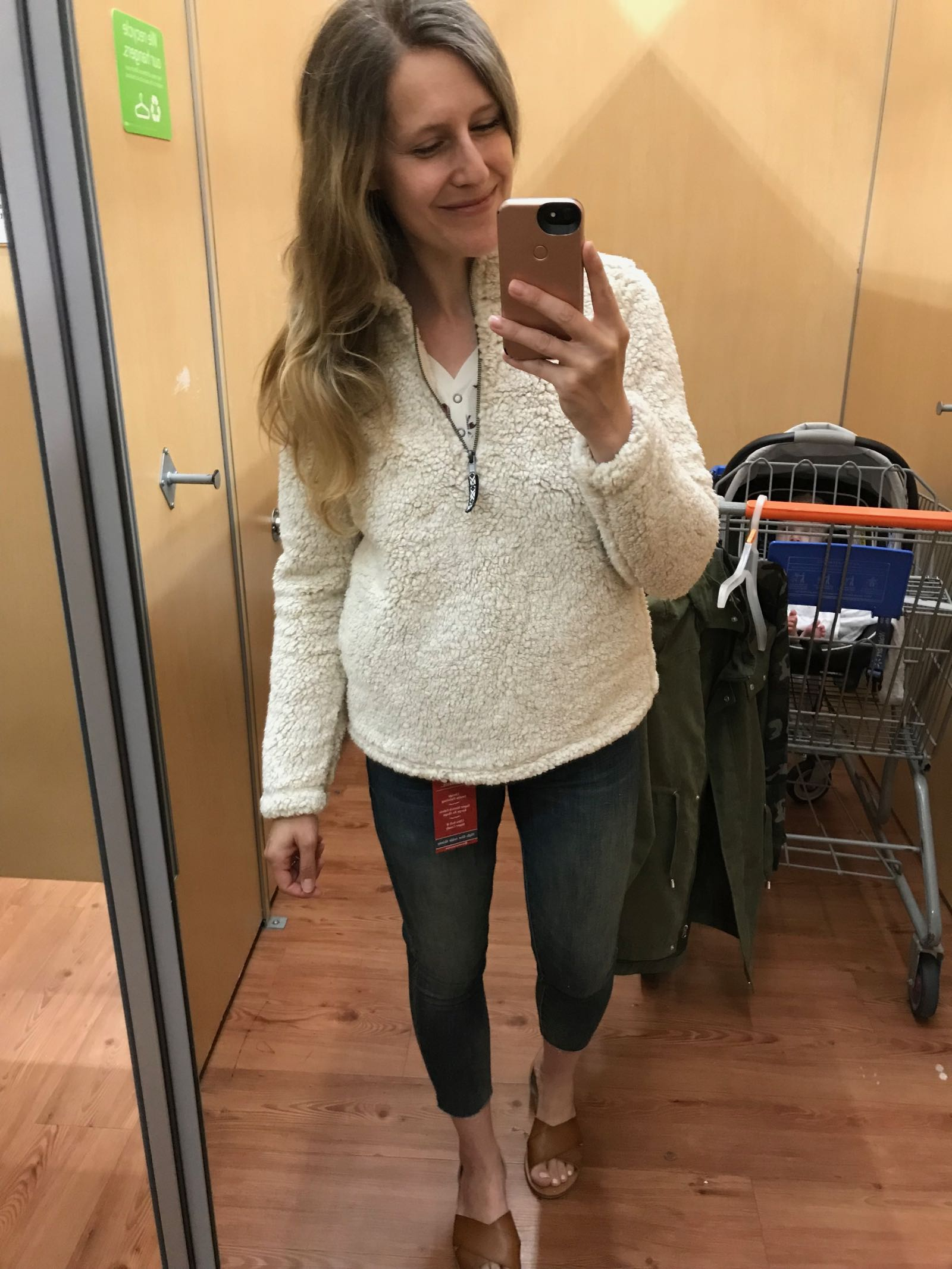 The coziest sherpa fleece pullover! Just $19.96 at Walmart! Looks like one at Nordstrom for $78