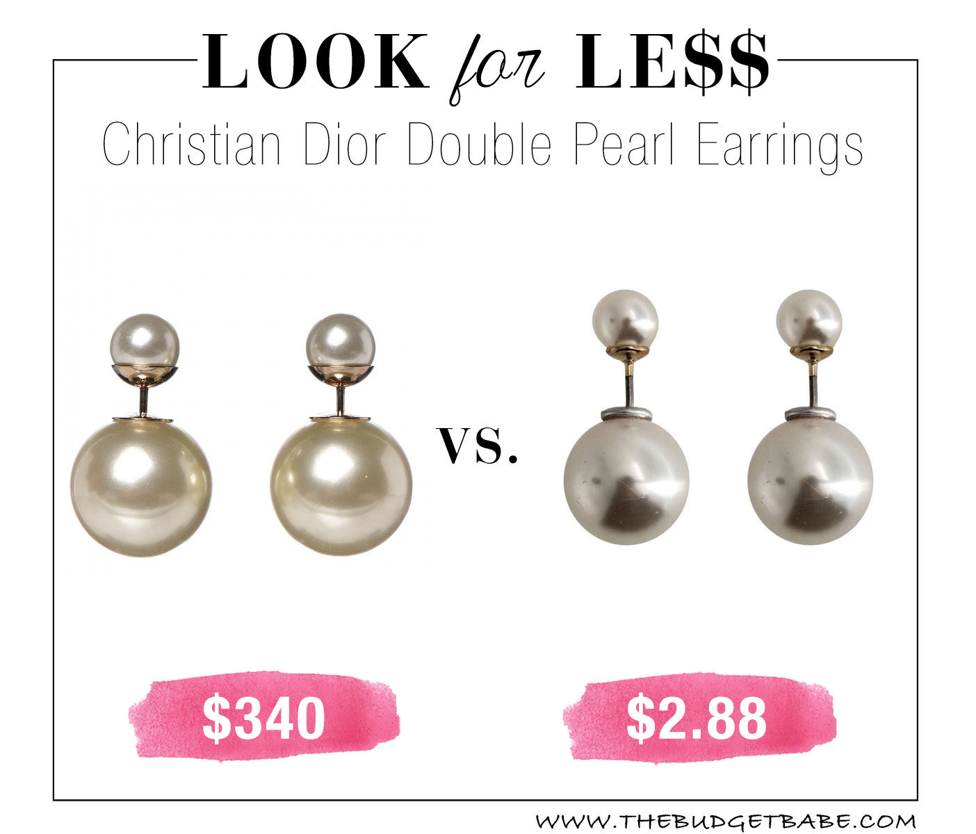 Christian Dior pearl earring knockoffs at Walmart! I'll grab a pair for $2.88!