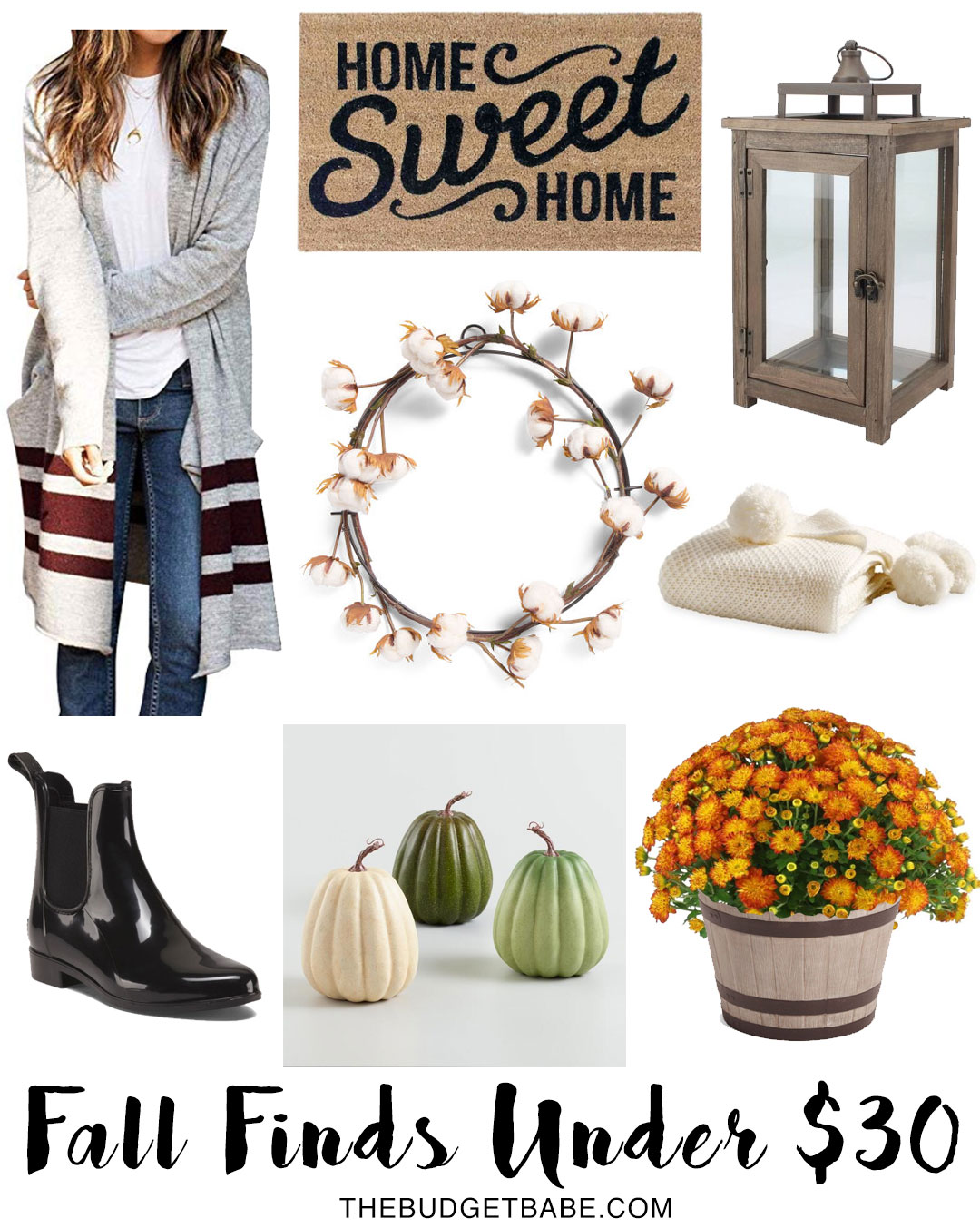 Fall Finds Under $30 - pom pom throw is just $16!