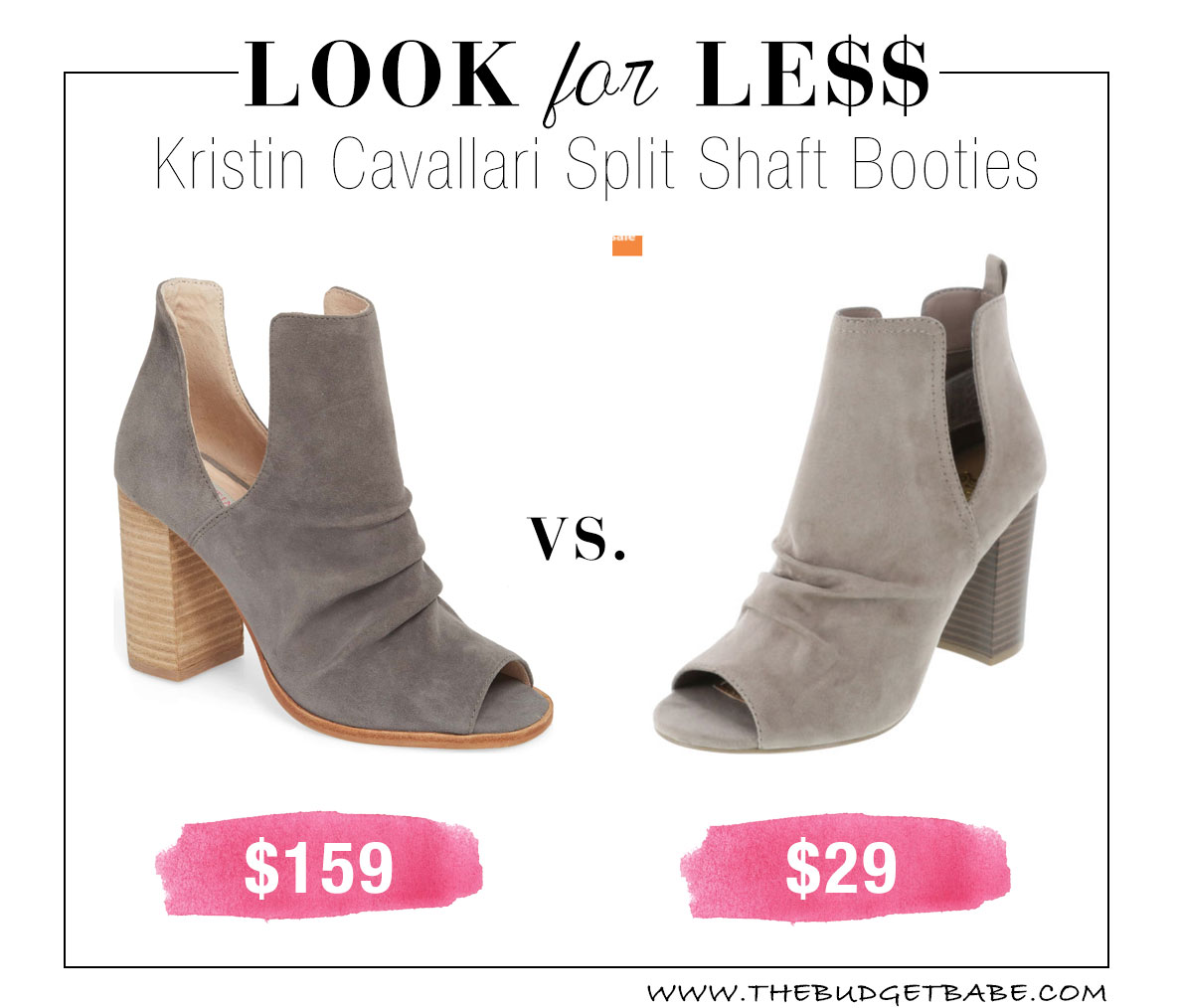 Payless has a great dupe for these Kristin Cavallari ankle booties!