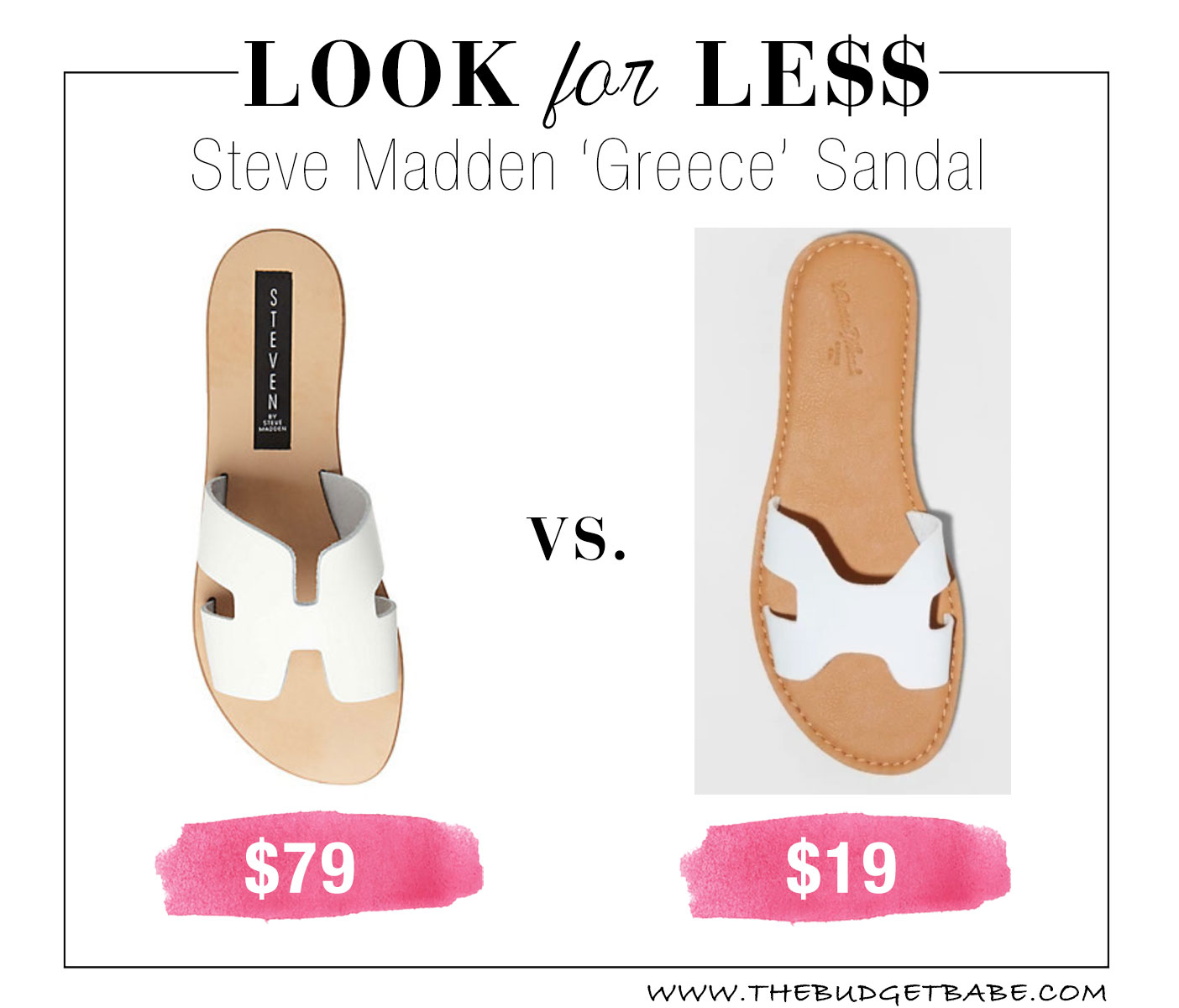 Steve Madden 'Greece' slide dupes at Target!