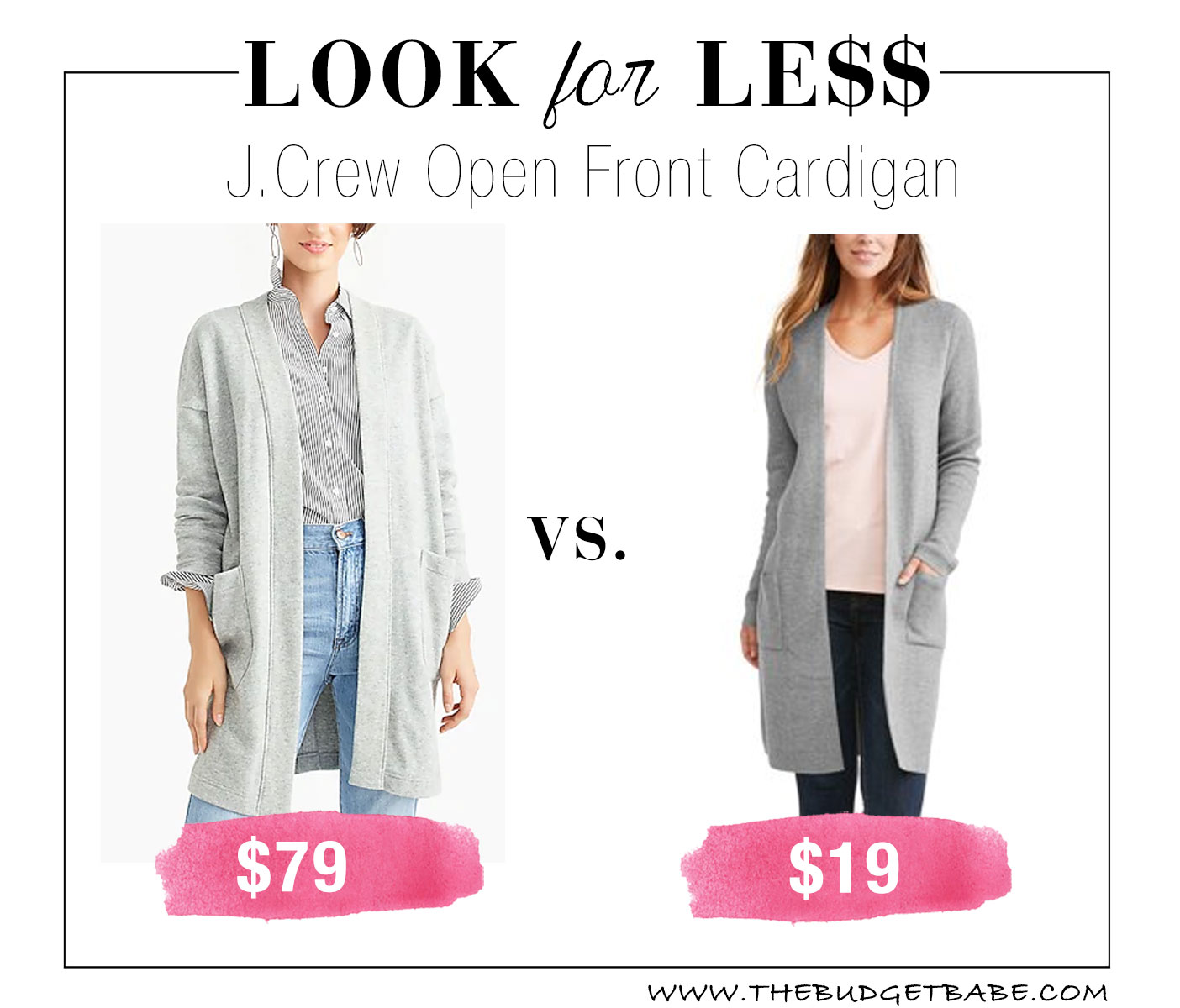 64233089b15 Look for Less  J.Crew Open Front Cardigan