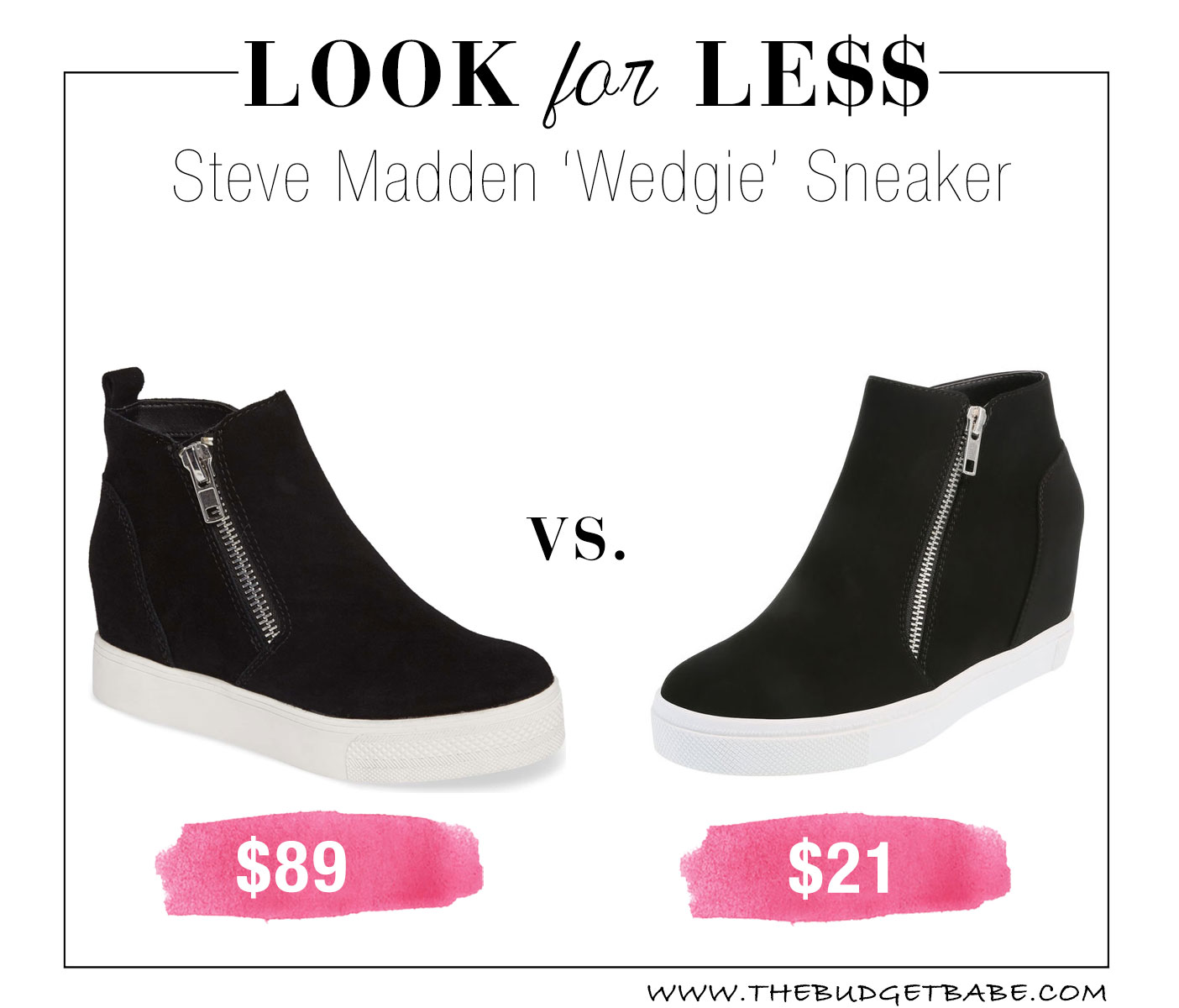 Steve Madden Wedge Sneaker dupe at Payless!