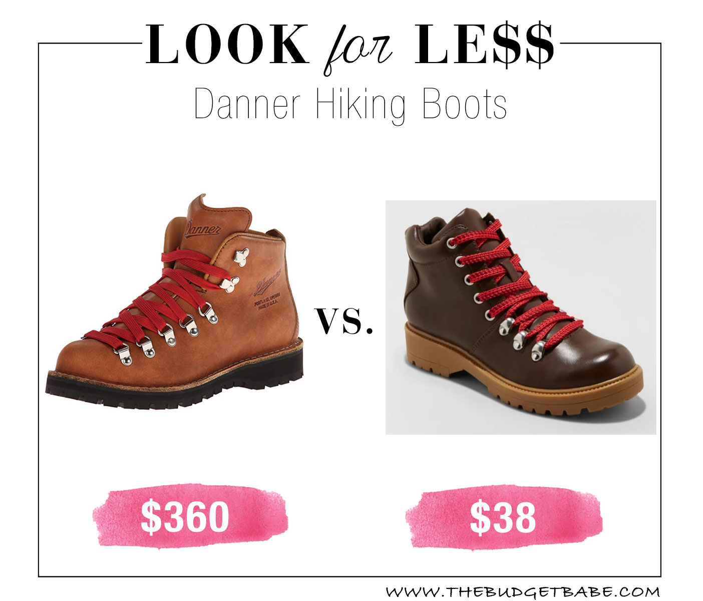 Danner hiking boot dupes at Target!