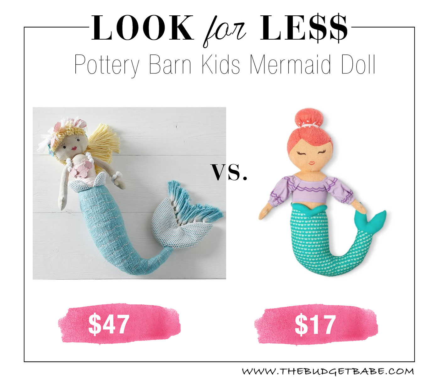 Look For Less Pottery Barn Kids Mermaid Doll The Budget