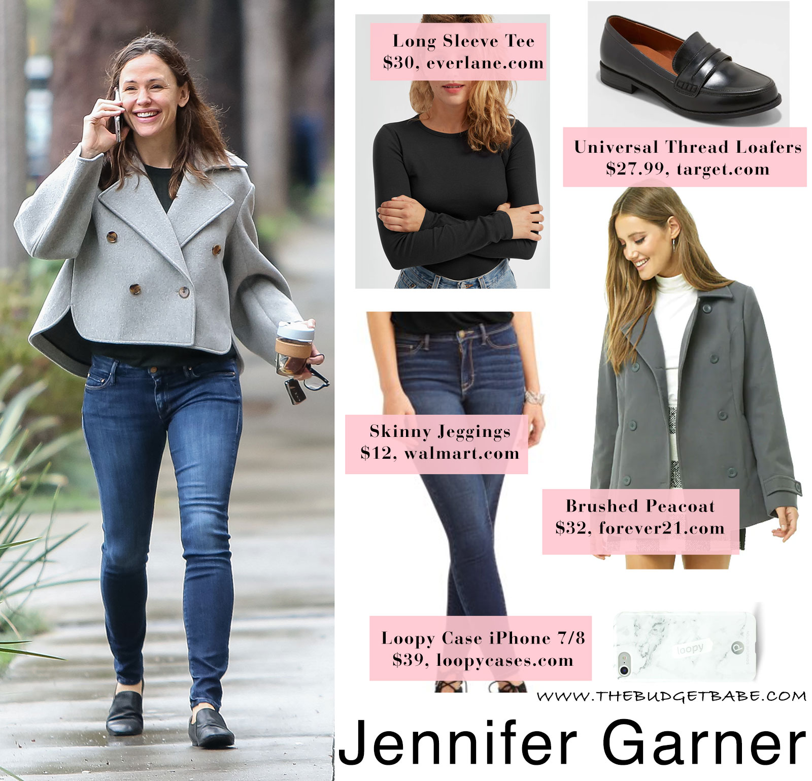 Jennifer Garner's moto jacket look for less
