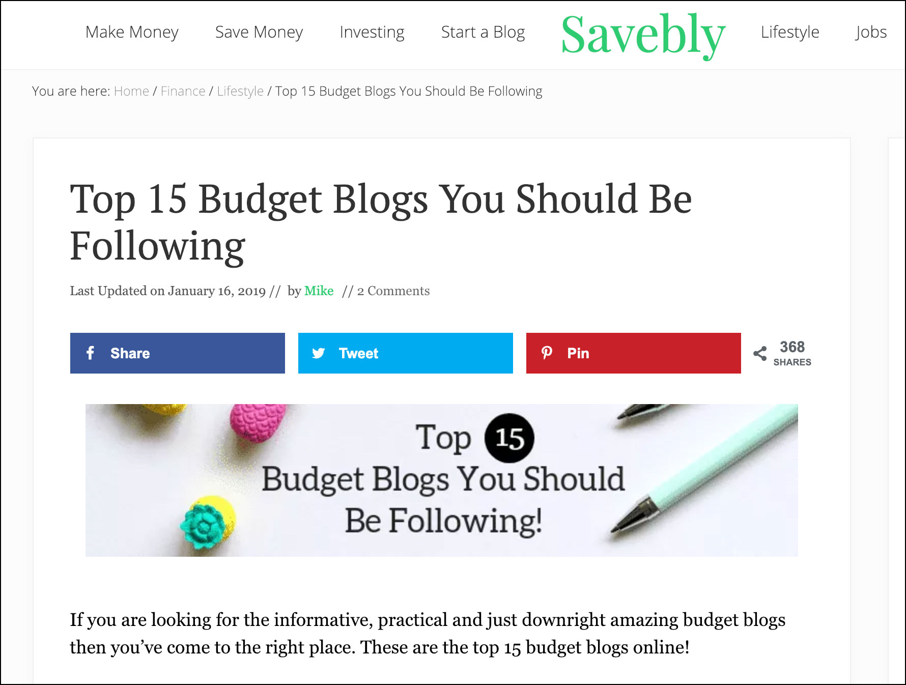 The Top 15 Budget Blogs You Should Be Following
