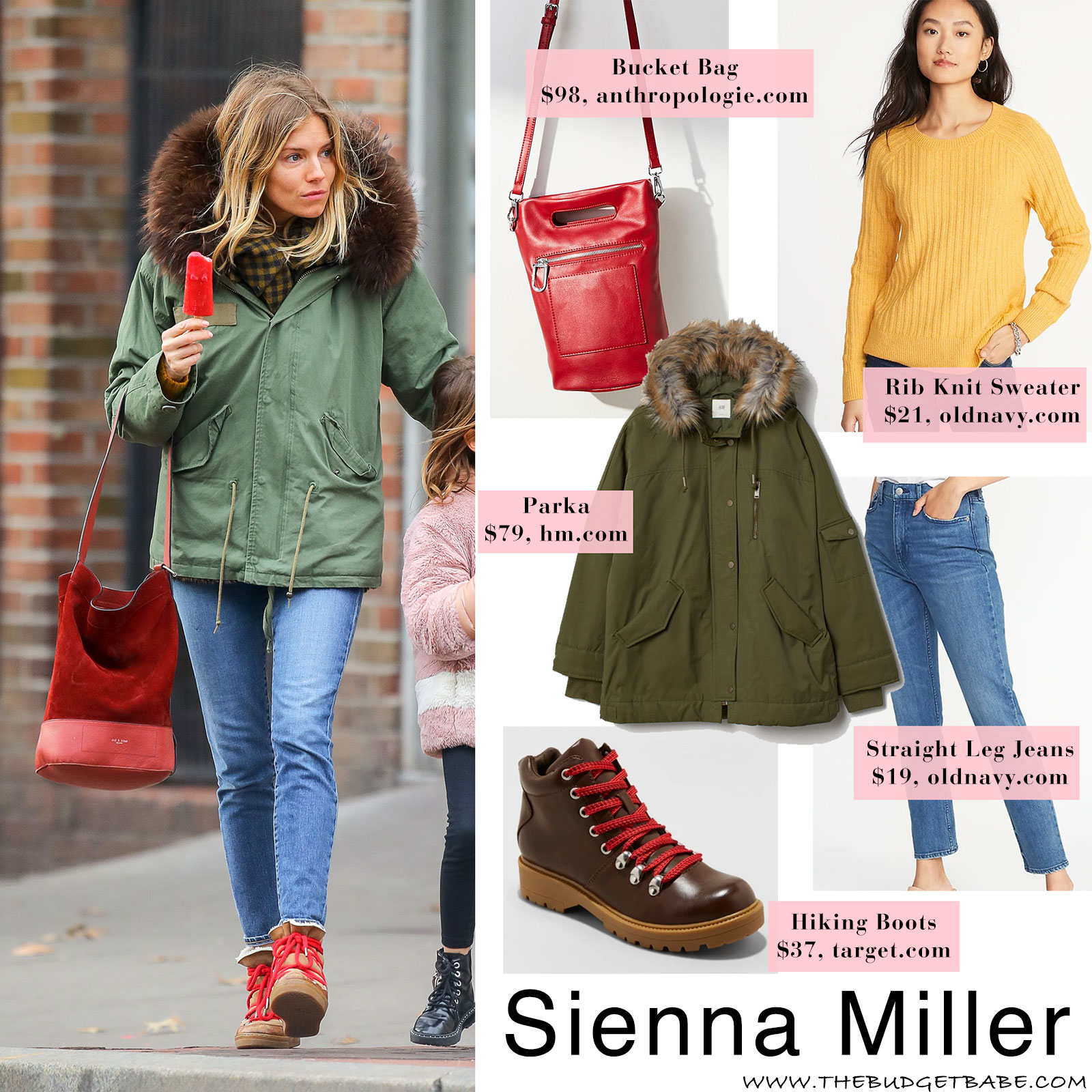 boy reputation first online retailer Sienna Miller's Olive Green Parka and Isabel Marant Snow ...