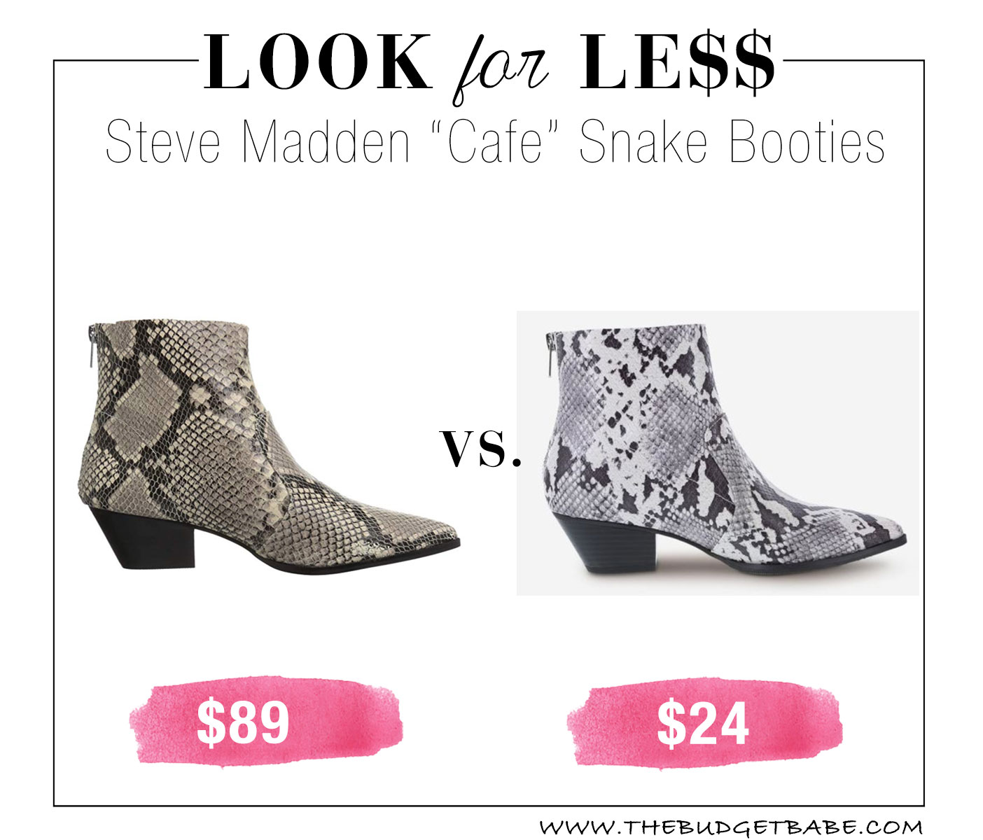 Snakeskin boot dupe at Payless!