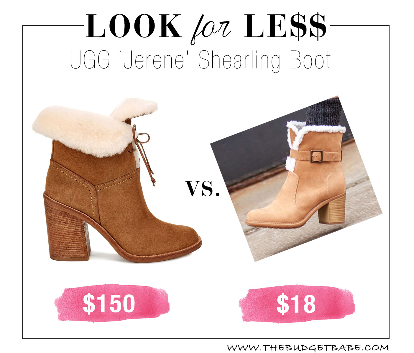Ugg look for less at Payless!