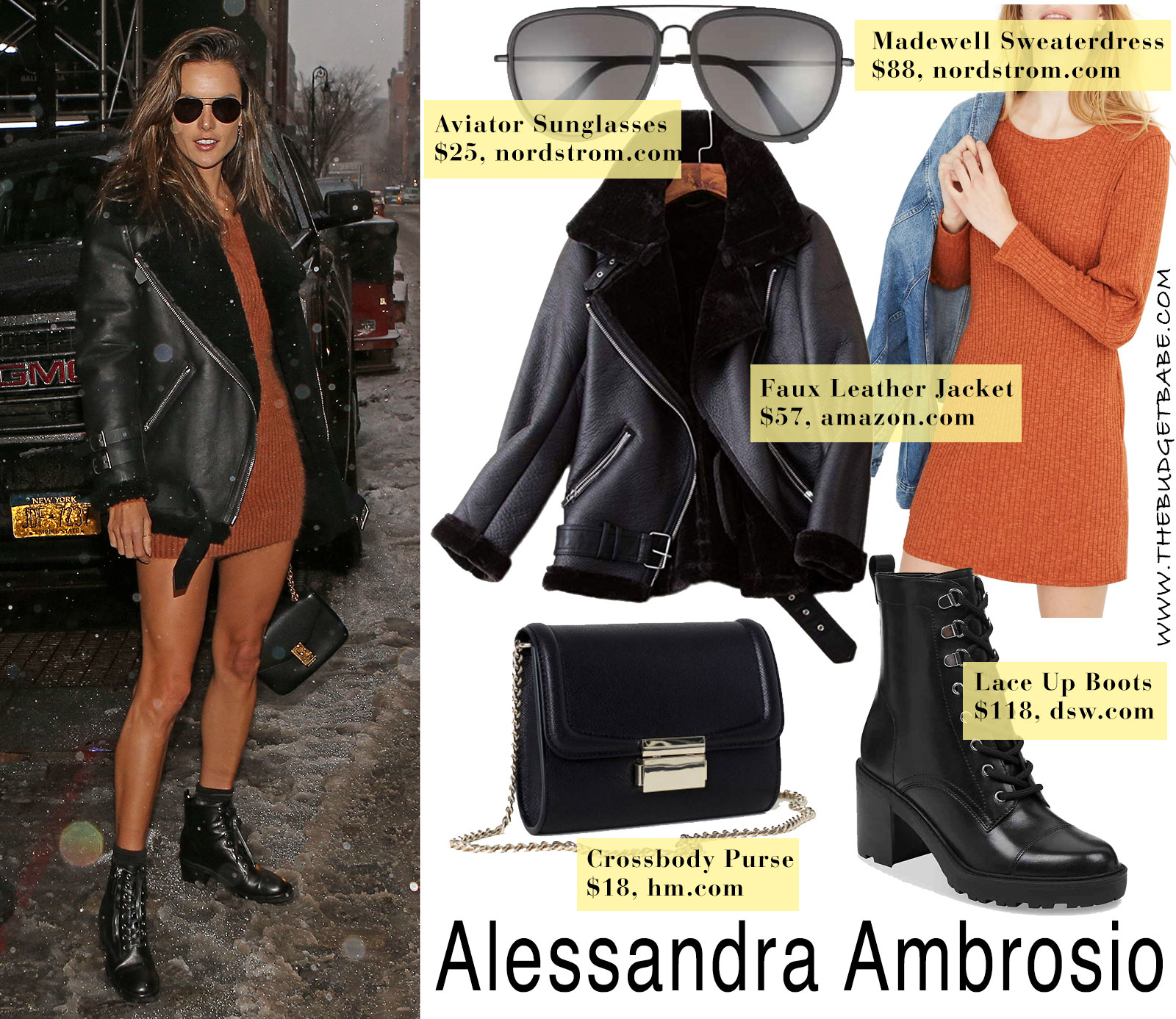 Alessandra Ambrosio in Acne Velocite Jacket look for less