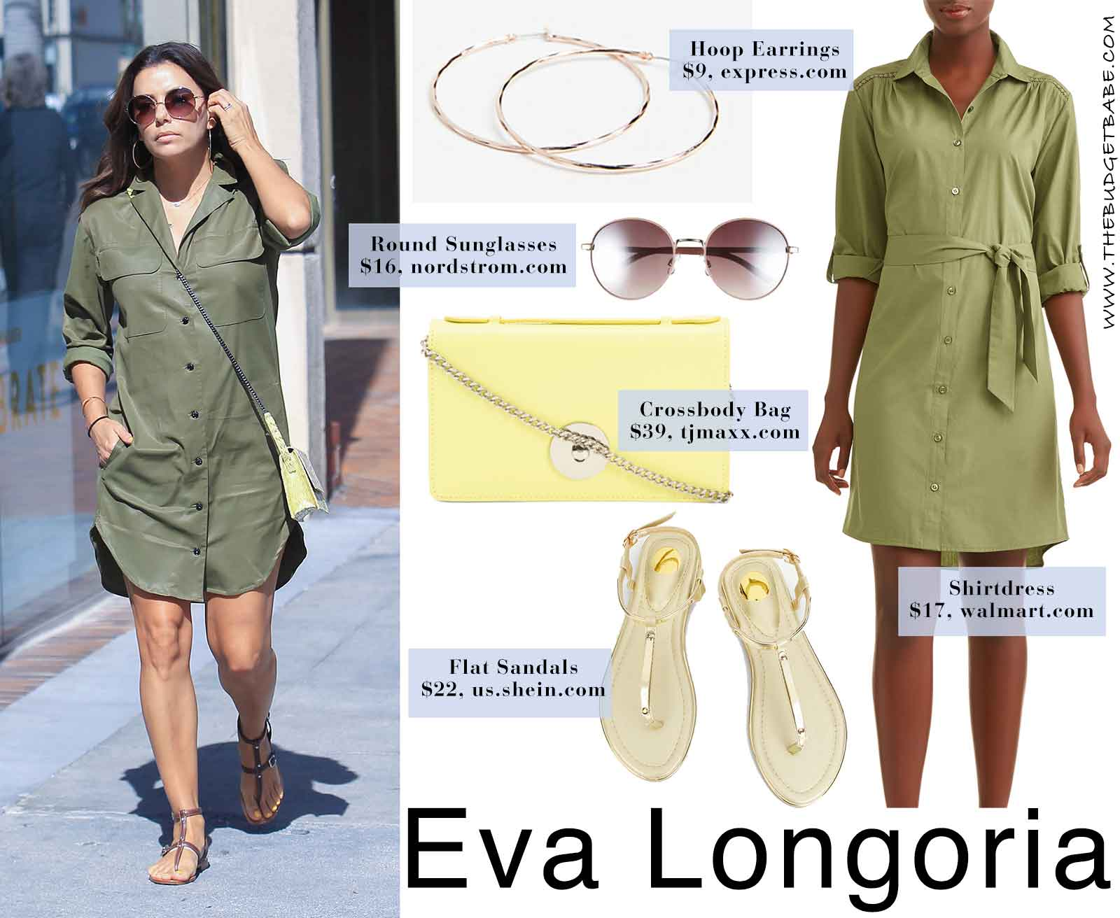 Eva Longoria's shirtdress style for summer - love this