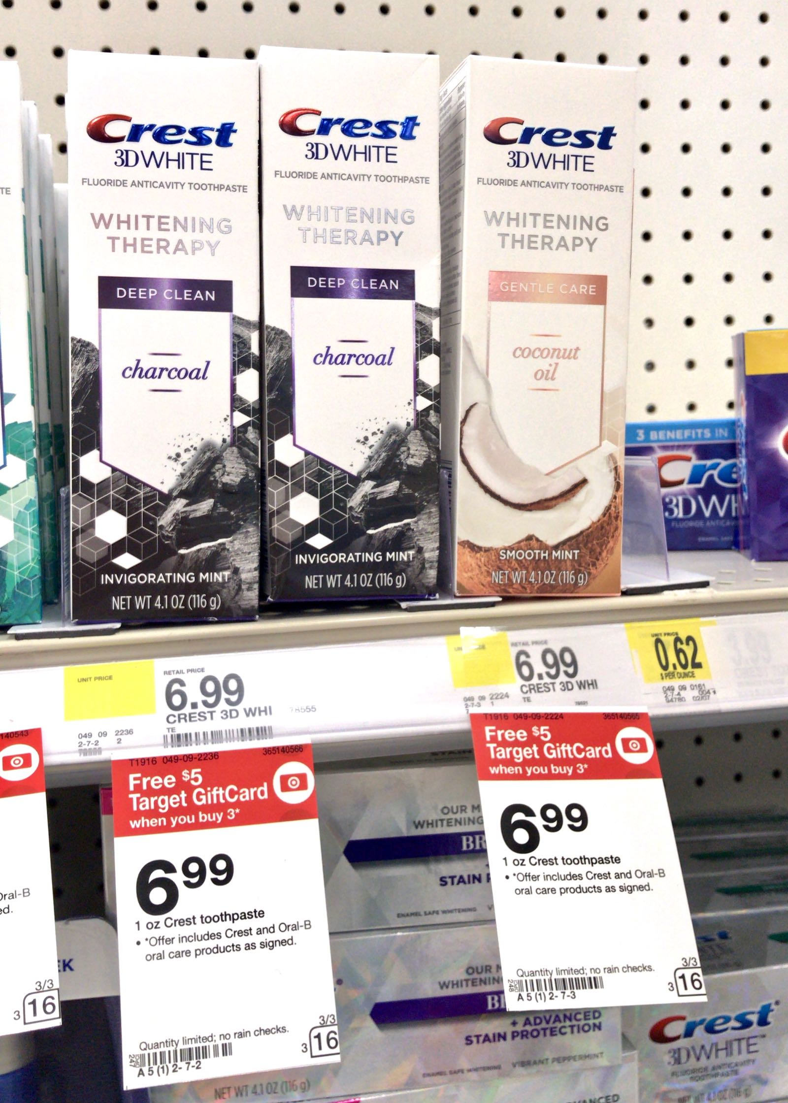 Save On Crest 3d White Whitening Therapy With Charcoal At Target
