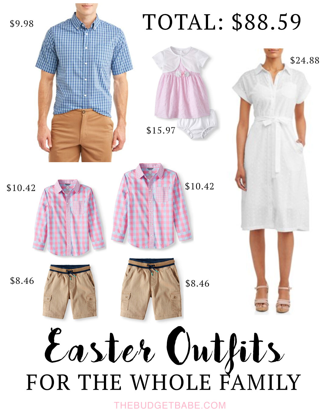 Easter Outfits for the Whole Family on a Budget - Under $100 Total!