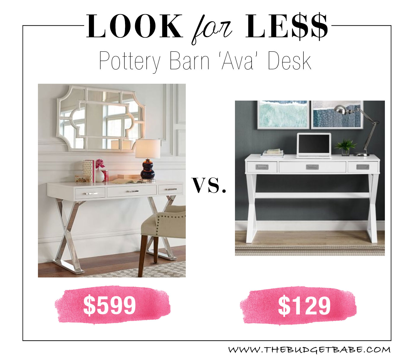 Pottery Barn 'Ava' Desk Lookalike at Walmart!