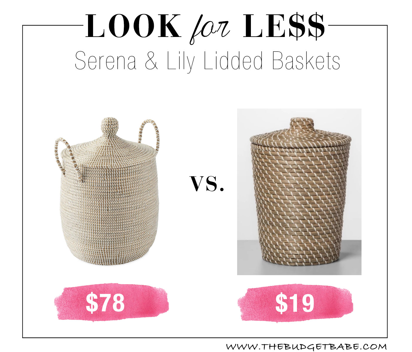 Serena & Lily baskets are so pretty