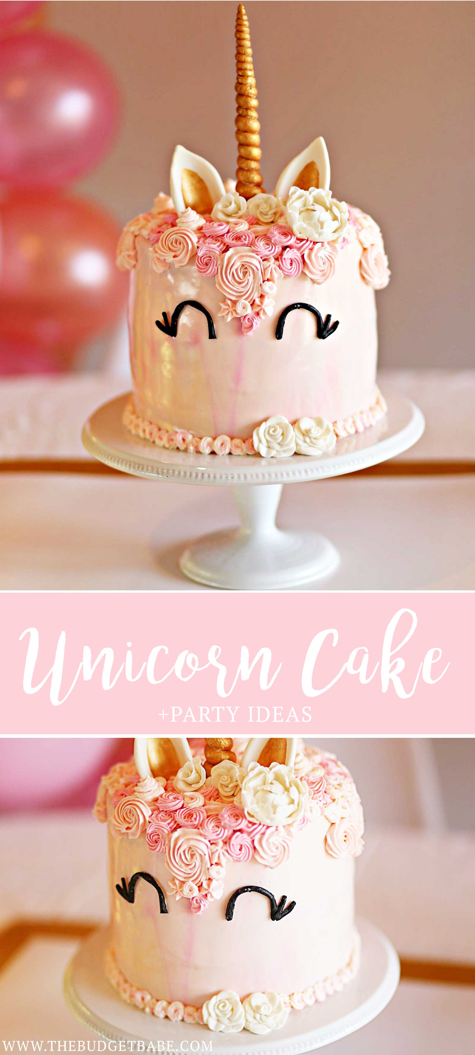 Everything you need to throw a Unicorn Theme girl's first birthday party!