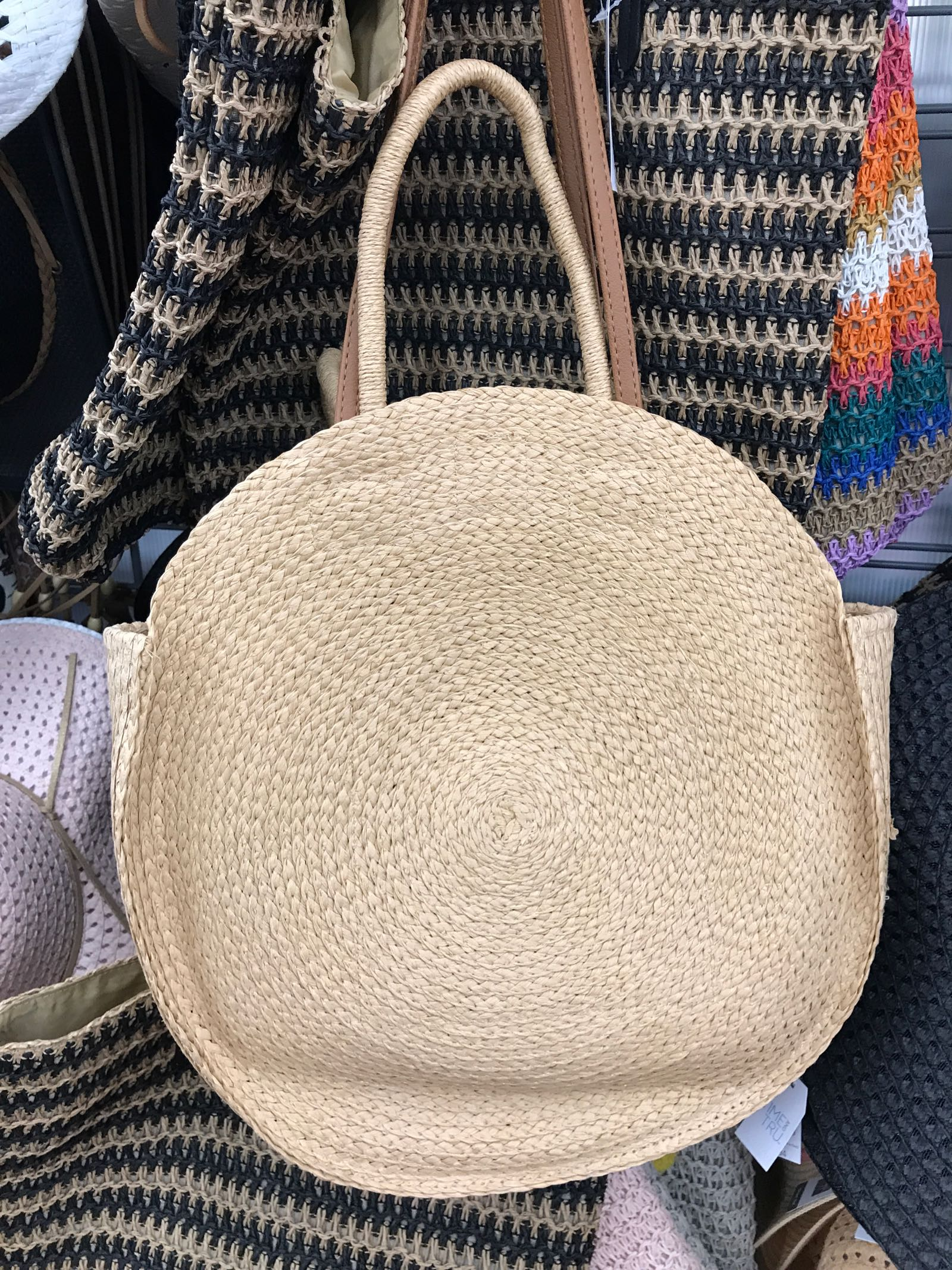 Need this circle straw tote! Under $15 at Walmart