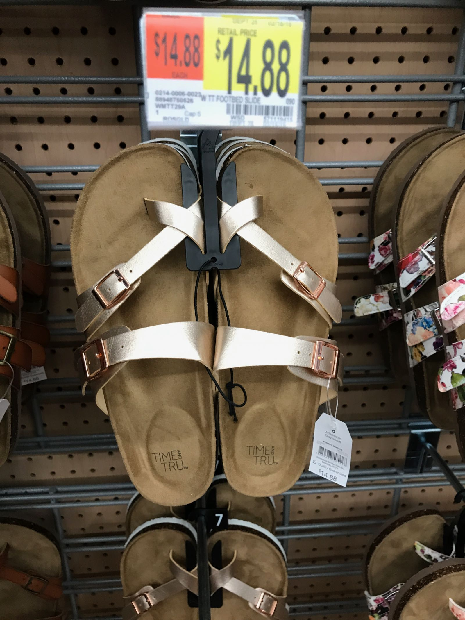 Wow rose gold metallic Birkenstock dupes at Walmart!