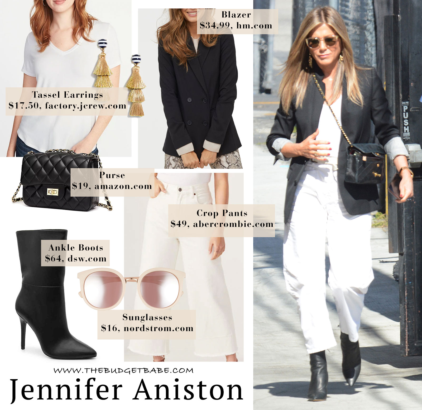 Love this black and white look on Jennifer Aniston