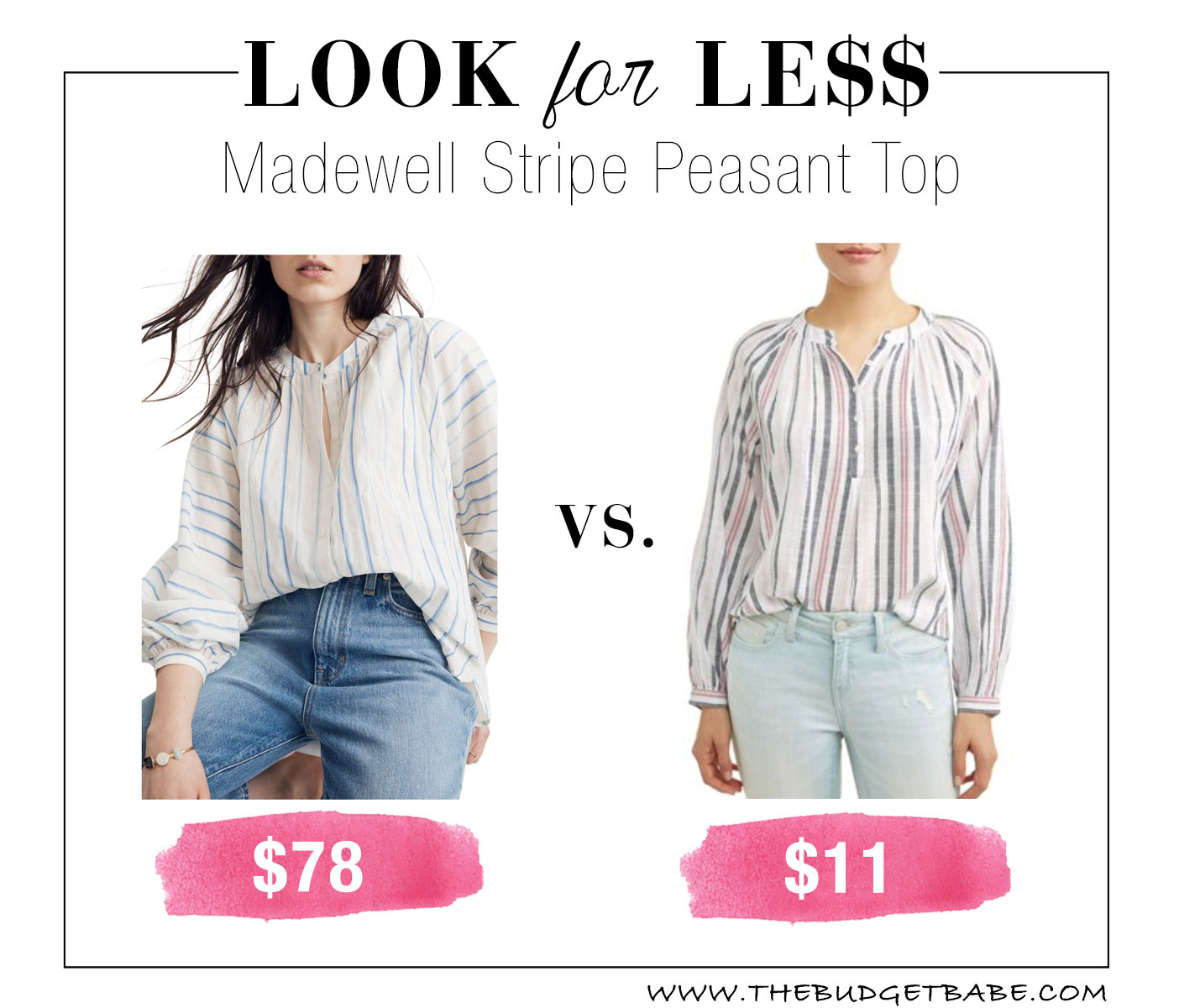 Madewell look for less at Walmart!