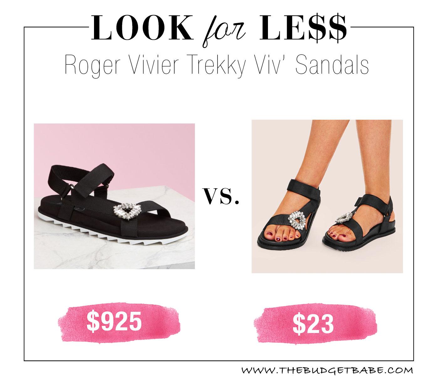 16838701bff Roger Vivier Trekky Viv  Sandal dupes!