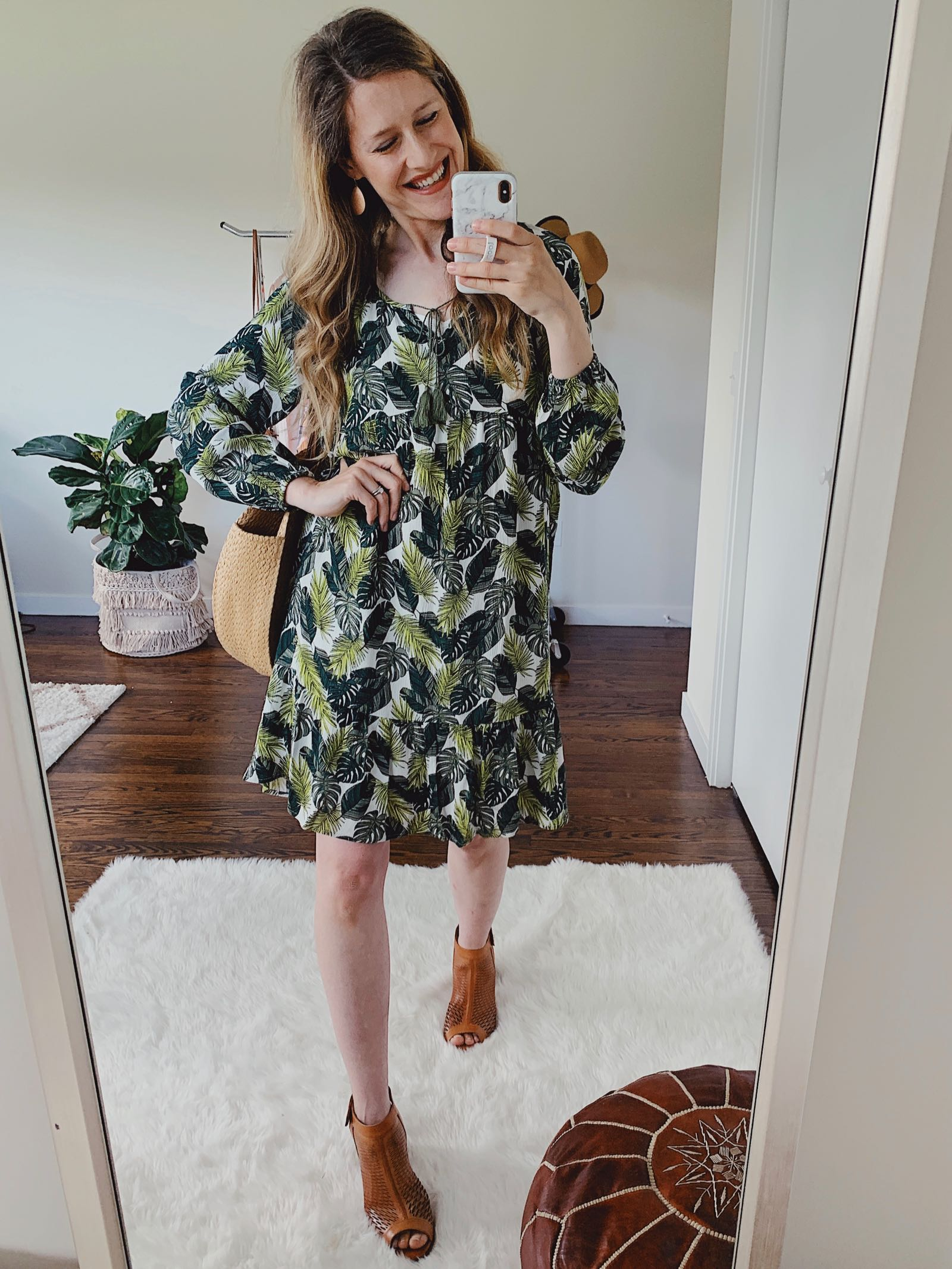 Palm print dress just $17 at Walmart!
