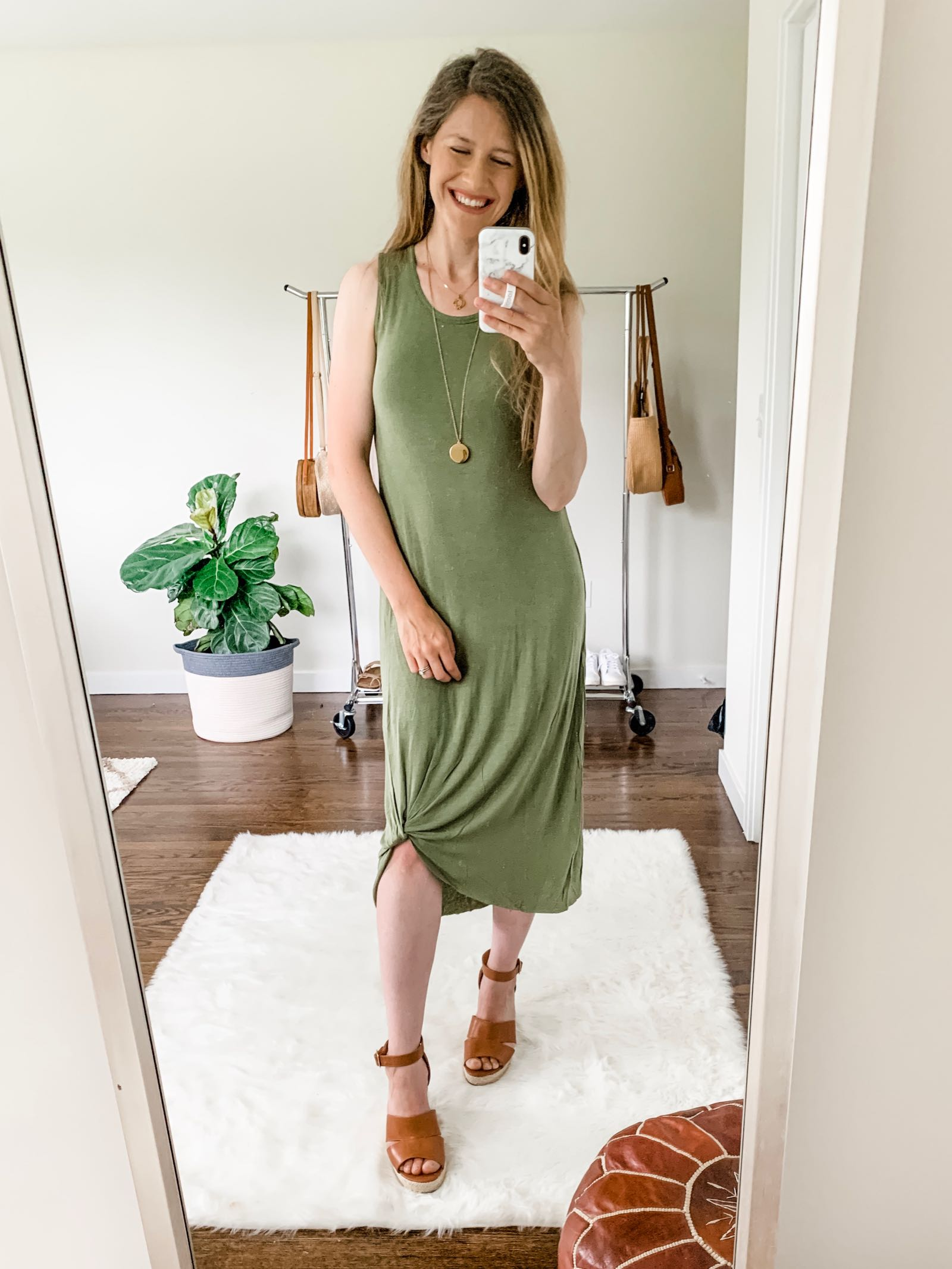 Must-have $12 knot front maxi dress at Walmart!