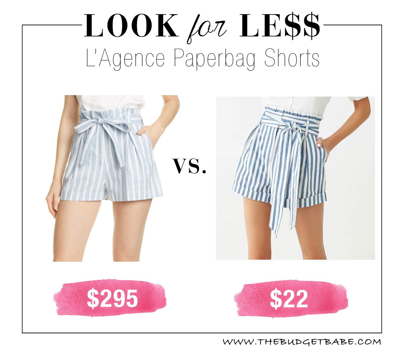 L'Agence Paperbag Shorts Look for Less