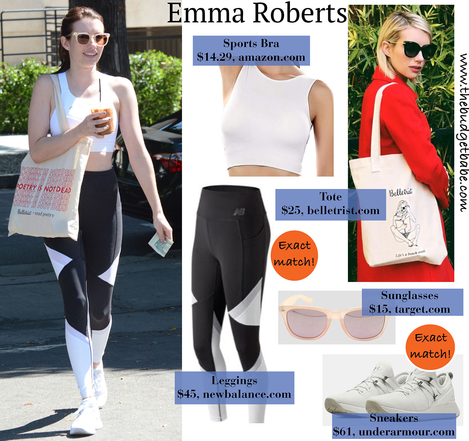 Emma Roberts workout style is the cutest