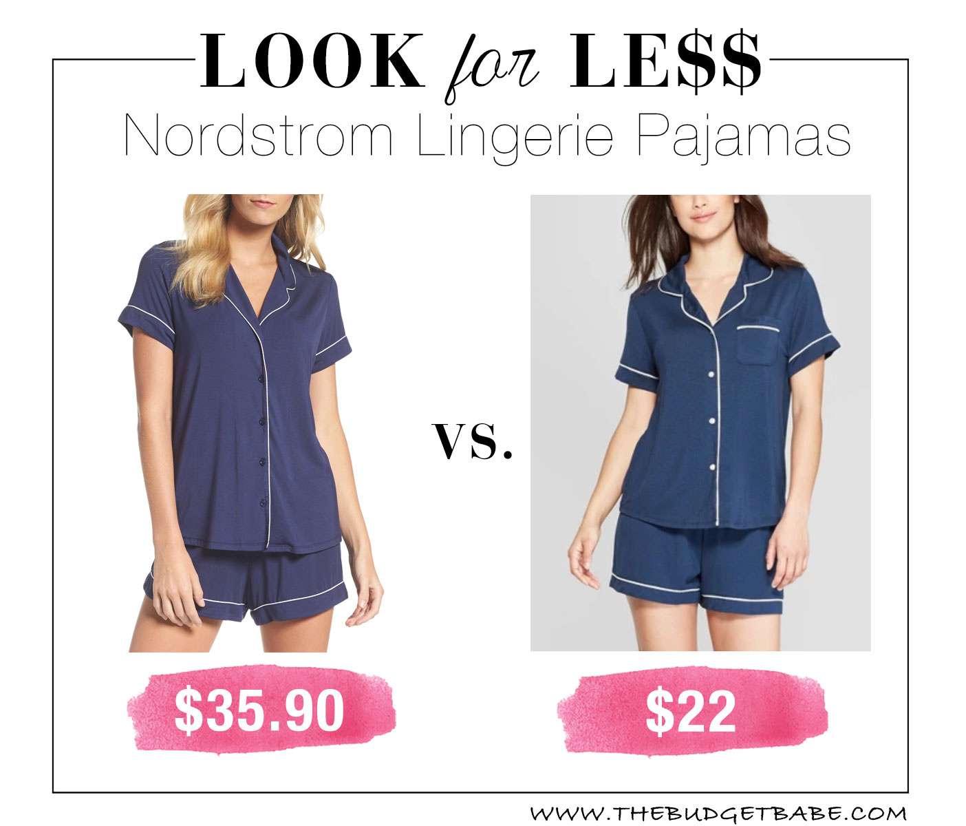 Nordstrom Lingerie Pajamas look for less at Target!
